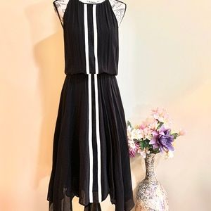 Parker Black and White Silk Dress NWOT